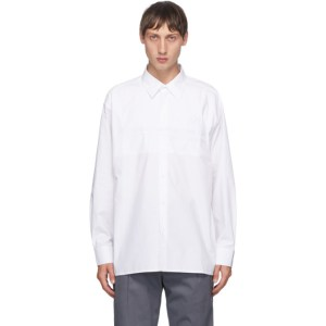 Xander Zhou White Embroidered Logo Shirt