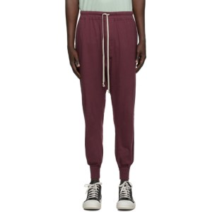 Rick Owens Drkshdw Burgundy Level Lounge Pants