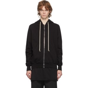 Rick Owens Drkshdw Black Jason Zip-Up Hoodie