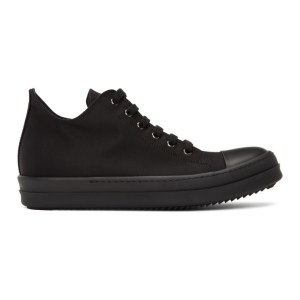 Rick Owens Drkshdw Black Wax Low-Top Sneakers