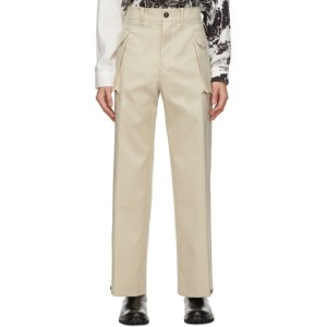 UNIFORME Beige Flap Pocket Trousers