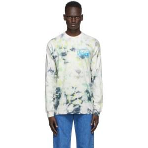 Aries Green Tie-Dye Temple Long Sleeve T-Shirt