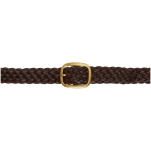 Maximum Henry Brown and Gold Braided Wide Oval Belt