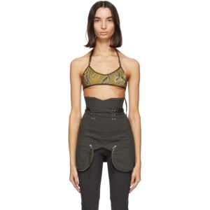 Charlotte Knowles SSENSE Exclusive Green Scant Bra