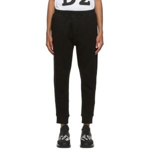 Dsquared2 Black I Heart D2 Ski-Fit Lounge Pants
