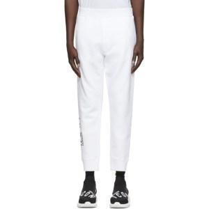 Dsquared2 White Ski-Fit Icon Lounge Pants