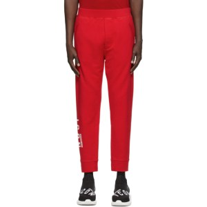 Dsquared2 Red Ski-Fit Icon Lounge Pants