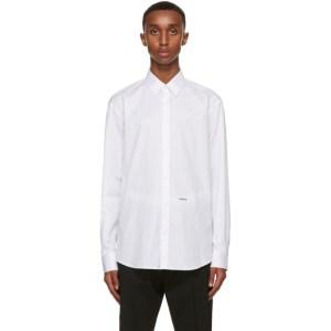 Dsquared2 White Poplin Relax Dan Shirt