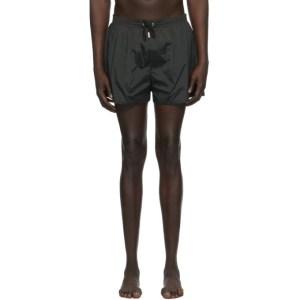 Dsquared2 Black Back Logo Swim Shorts