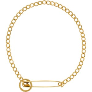 Martine Ali SSENSE Exclusive Gold Pin Necklace