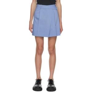 Helmut Lang Blue Wrap Skirt