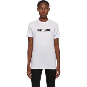 Helmut Lang SSENSE Exclusive White Gut Lane T-Shirt