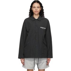 Essentials Black Souvenir Jacket