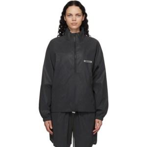 Essentials Black Nylon Track Jacket