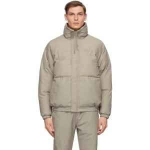 Essentials Grey Puffer Jacket