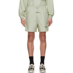 Essentials Green Volley Shorts