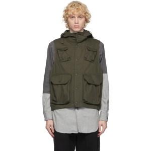 Engineered Garments Khaki Field Vest