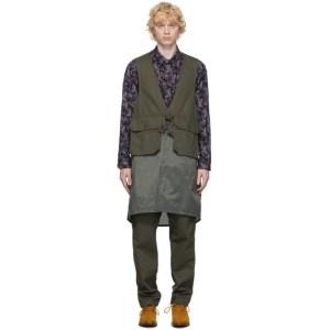 Engineered Garments Khaki Long Fowl Vest