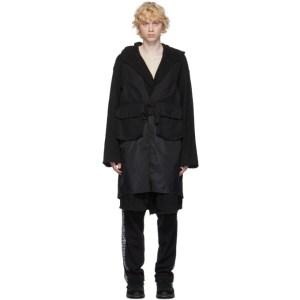 Engineered Garments Black Long Fowl Vest