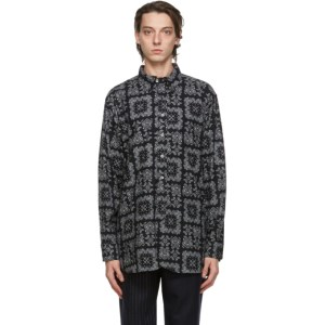 Engineered Garments Black Bandana Print Shirt