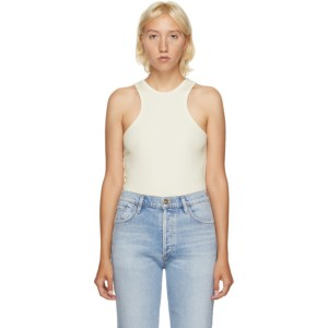 Goldsign Off-White Rib Tank Top