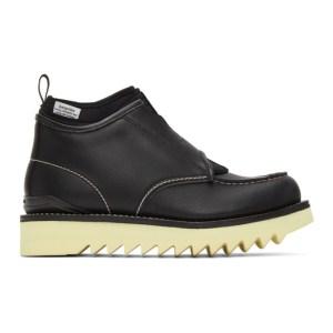 Fumito Ganryu Black Suicoke Edition Slip-On Boots
