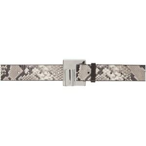 Dheygere Black and Grey Snake Lighter Belt