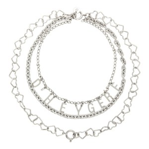 Dheygere Silver Logo Chain Necklace