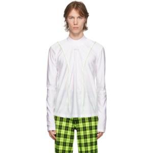 Sankuanz SSENSE Exclusive White Nylon Long Sleeve T-Shirt