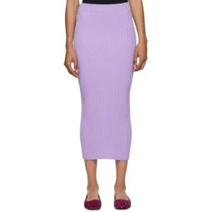 MM6 Maison Margiela Purple Tight Knit Skirt