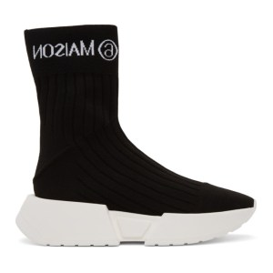 MM6 Maison Margiela Black Logo Sock Sneakers