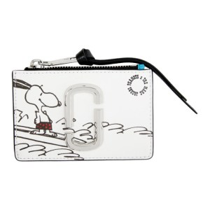 Marc Jacobs White Peanuts Edition Snoopy Top Zip Wallet