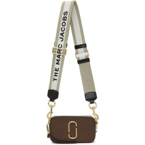 Marc Jacobs Brown and Green The Snapshot Shoulder Bag
