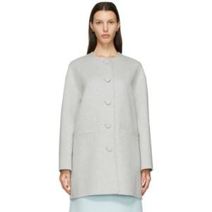 Marc Jacobs Grey Boxy Cardigan Coat