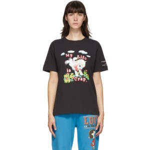 Marc Jacobs Black Magda Archer Edition My Life Is Crap T-Shirt