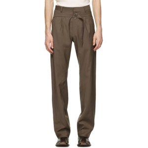 Bianca Saunders Brown Wool Clive Trousers