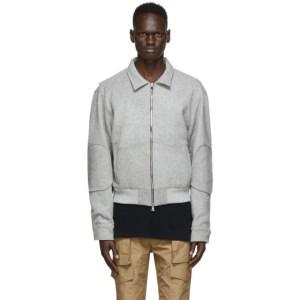 Nahmias Grey Wool Workman Jacket