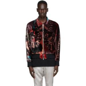 Nahmias Multicolor Silk Velvet Smoker Jacket