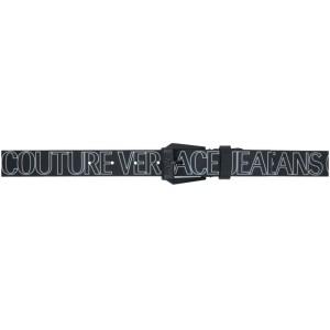 Versace Jeans Couture Black Allover Logo Belt