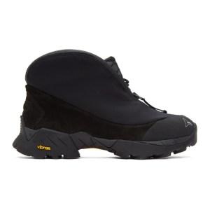 ROA Black Scubo Teri Ankle Boots