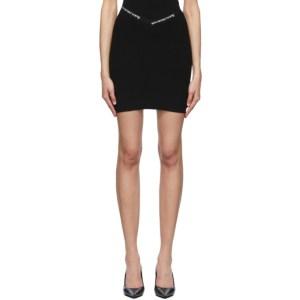 alexanderwang.t Black Logo Trim Bodycon Miniskirt