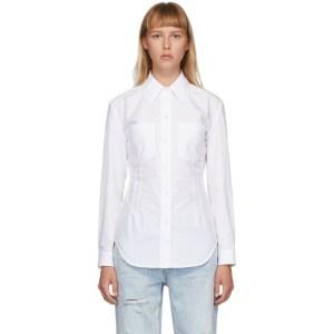 alexanderwang.t White Crisp Poplin Fitted Shirt