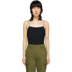 alexanderwang.t Black Compact Jersey Bodysuit