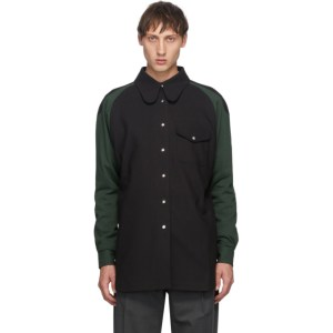 Keenkee Black and Green Curves Shirt