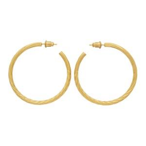 Portrait Report Gold Sade Twist Hoop Earrings