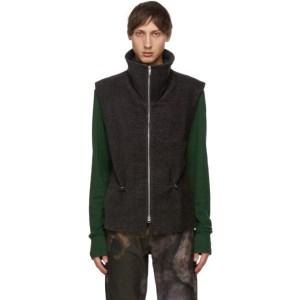 Serapis Grey Terrycloth Vest