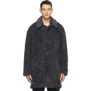 Deveaux New York Grey Faux-Fur Coat