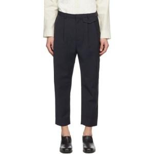 Deveaux New York SSENSE Exclusive Navy Wyatt Trousers