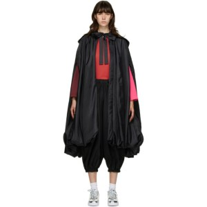 Comme des Garcons Black Satin Cape Coat