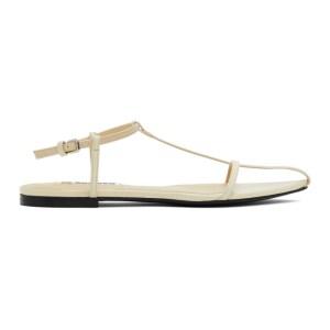 Jil Sander Yellow Pointy Toe Flat Sandals